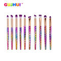 Best Deal New 10PCS Colour Handle Make Up Brushes Eye Shadow Eye Liner Brush Cosmetic Concealer Brushes Beauty Tools Gift