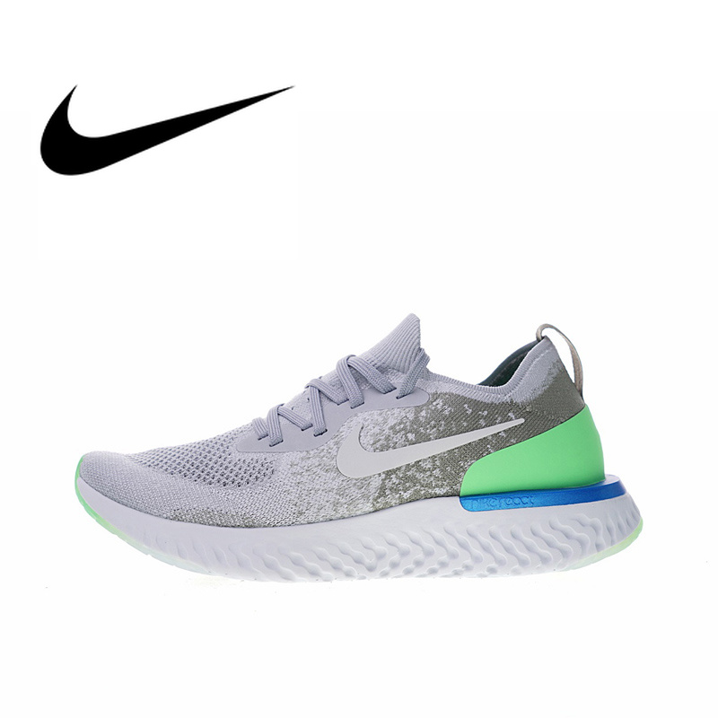 93ddfddc667f Original Authentic Nike Epic React Flyknit Men s Breathable Running Shoes  Sport Sneakers Athletic 2018 New Arrival