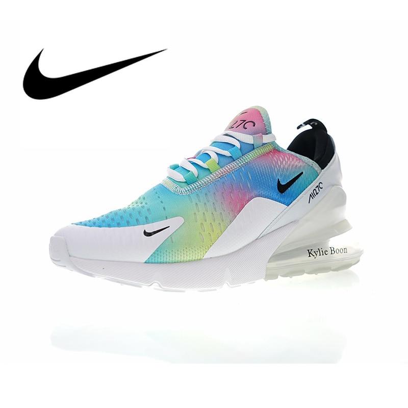 Chaussures de course pour femmes NIKE Air Max 270 authentique chaussures de sport en plein Air chaussures de créateur athlétique couleur arc-en-ciel AH6789-700