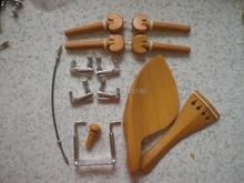1 Satz BUCHSBAUM Violine passend mit Silber Fine tuner, schwanz gut, silber farbe kinnstütze schraube alle 4/4