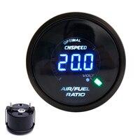 CNSPEED 2 52mm 20 LED Digital Car Auto Air Fuel Ratio Gauge 12V Racing Air Fuel