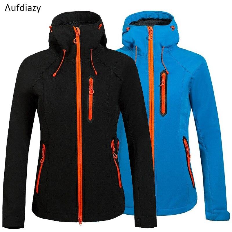 Aufdiazy femmes thermique Softshell Trekking vestes extérieur thermique imperméable manteau randonnée Ski Camping femme coupe-vent JW011