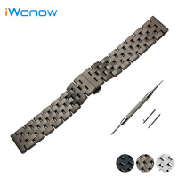 Stainless Steel Quick Release Watch Band 20mm 22mm For Rolex Butterfly Buckle Strap Wrist Belt Bracelet