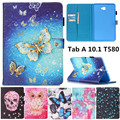 Flower Skull Pattern Flip PU Leather Stand Shell Cover Case for Samsung Galaxy Tab A A6 10.1 2016 T585 T580 T580N Tablet case
