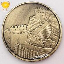 Китайская Великая стена памятная монета Китайская культура Мемориал музейные коллекционные монеты древняя бронзовая культура художественные Декорации для дома