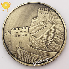 China Great Wall Commemorative Coin Culture Memorial Museum Coins Collectibles Ancient Bronze Art Home Decorations