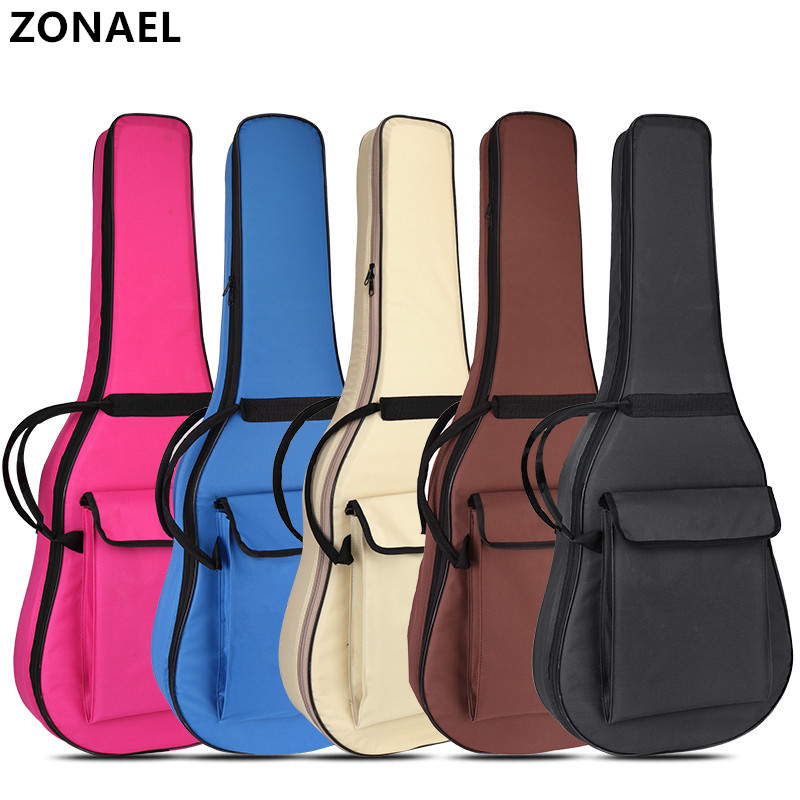 40 /41 Inch Guitar Bag Oxford Fabric Acoustic Guitar Gig Bag Soft Case Padded Guitar Waterproof Backpack Guitar Accessories Part 21 inch colorful ukulele bag 10mm cotton soft case gig bag mini guitar ukelele backpack 2 colors optional