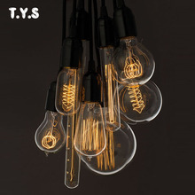 Retro Lamp ST64 Vintage Edison Bulb E27 Incandescent Light Bulb 220v Filament Lamp Christmas Decorations For Home A19 G80 G95