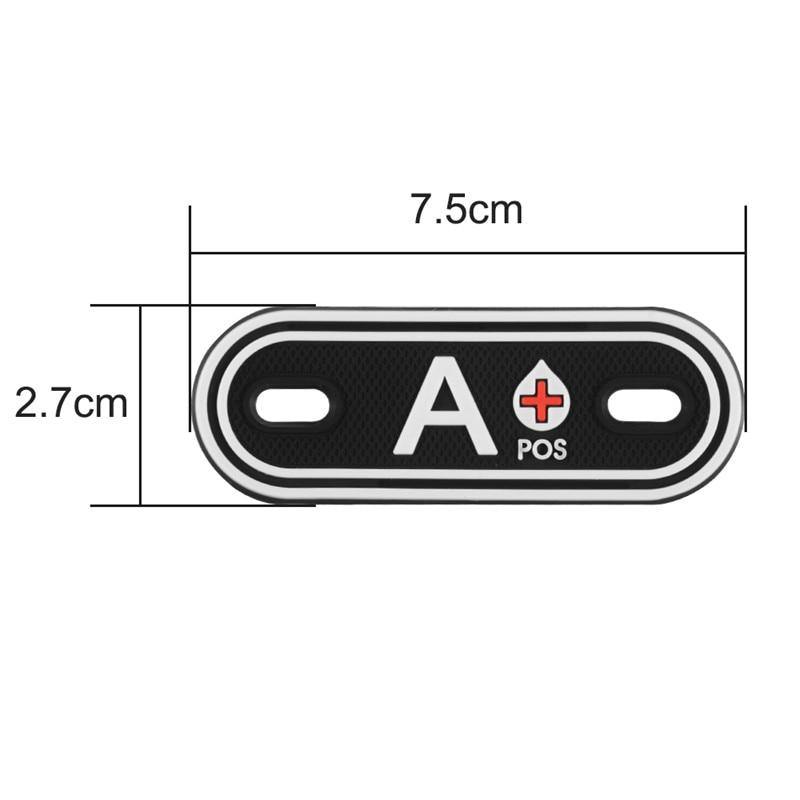 Shoe buckles Blood Type NEG 3D PVC patch Carabiner Keychain