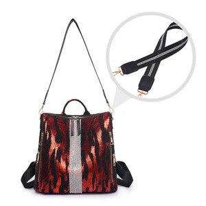 Image 4 - Animal Prints Backpack Women 2020 School Bags for Teenage Girls Vintage Diamonds Bagpack Large Capacity Travel Backpack XA445H