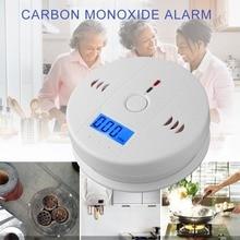 Чувствительный домашний CO2 Датчик детектор беспроводной CO угарного газа датчик дыма Предупреждение ющий сигнал детектор ЖК-индикатор