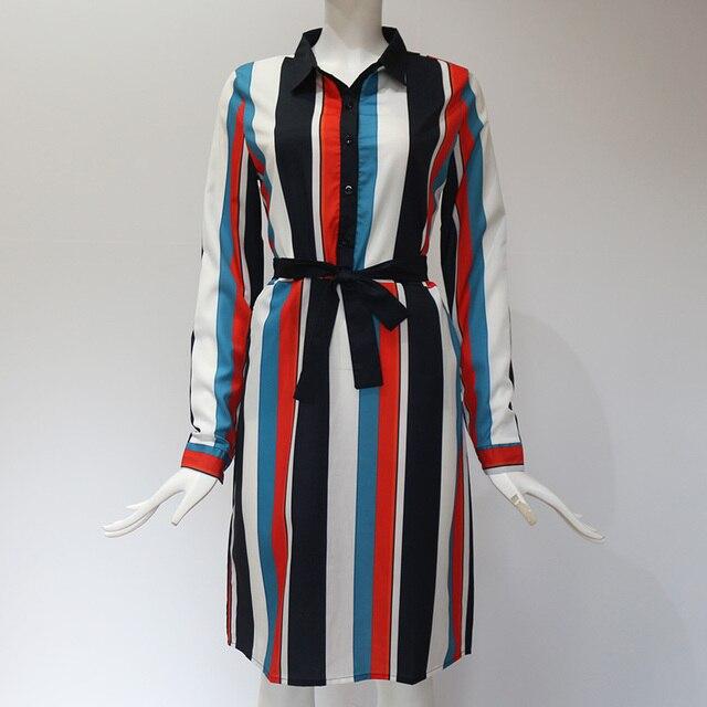 Striped V-Neck Summer Dress 6