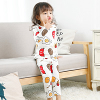 Syue Moon Girls Pajamas Sets Kids Dinosaur Dog Pattern Pyjamas Children 100 Cotton Sleepwear Baby Boy
