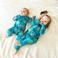 Romper младенца с длинными рукавами хлопок Похожие Мальчик Девочка Одежда детская Одежда Одежда ананас Установить Тела Подходит PPY-152