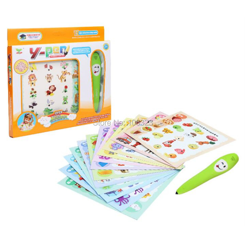 Kids Newest Smart Learning Reading Pen with Study Cards, Common Sense Knowledge Y-Pen, Early Education Intelligence Logical Toys