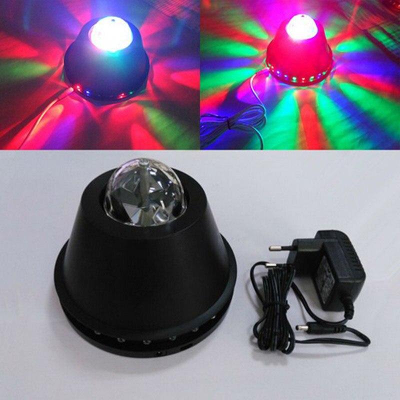5V external power New RGB Crystal Ball LED RGB Automatic Rotating Stage Light Disco Projector Party Club Bar Show Lighting DJ