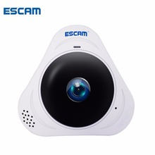 ESCAM Q8 960P HD 1.3MP 360 Degree Panoramic Monitor Fisheye WIFI IR Infrared Camera With Two Way Audio/Motion Detector MAX 128G