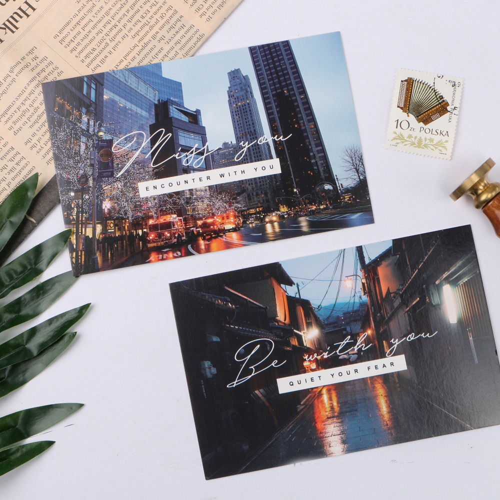 30pcs city after rain style card multi-use as Scrapbooking party invitation DIY Decoration gift card message card postcard