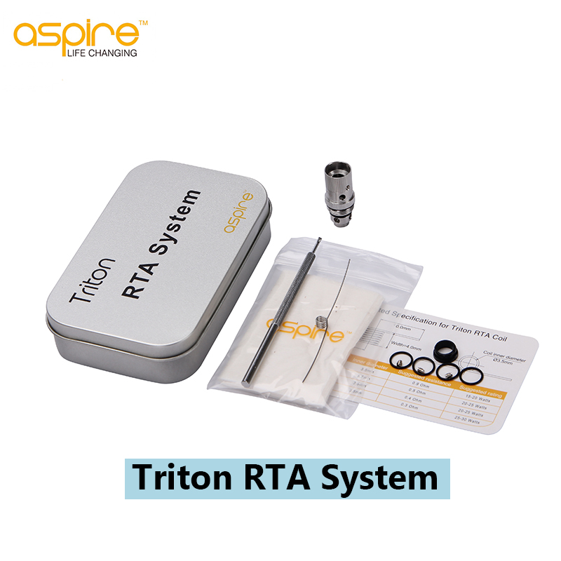 Original Aspire Triton RTA System Full Kit for DIY Triton Coils Trion Tank