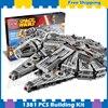 1381pcs Space Wars Millennium Falcon Spaceship Battle Ship 10467 Model Building Blocks Gifts Sets Children Compatible