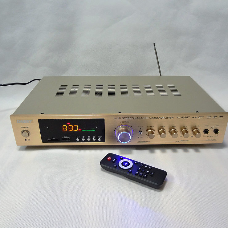 AV-608BT Home 5 channel HiFi home theater amplifier karaoke AV Amplifier High Power Radio Bluetooth power amplifier домашний кинотеатр home theater 5 1 bluetooth