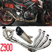 Exhaust Full System Tube For Kawasaki Z900 Motorcycle Slip On Exhaust Pipe Muffler With Exhaust Muffler AK209