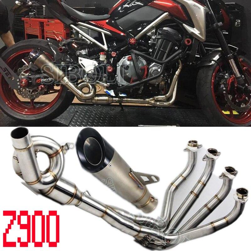 Système d'échappement Complet Tube Pour Kawasaki Z900 Moto De Glissement Sur Tuyau D'échappement Silencieux Avec D'échappement Silencieux AK209