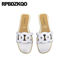 White Slip On Sandal