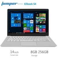 Jumper EZbook S4 Notebook 14.0 inch 1080P Windows 10 Intel J3160 Quad Core 1.6GHz 8GB RAM 256GB SSD Laptop Dual WiFi Bluetooth