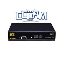 1 Año CCCAM Europa V8 súper Decodificador mejor que openbox DVB-S2 Receptor de Satélite cccam Apoyado powervu Completo bisskey IPTV