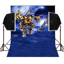 Transformers Optimus scenic for kids photos camera fotografica studio vinyl photography background backdrop cloth digital props(China)