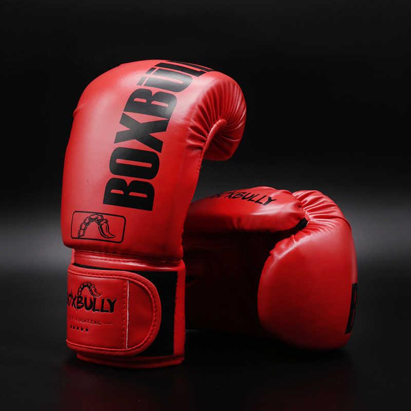 Maya Menyembunyikan Kulit Tinju Kickboxing Muay Thai Pelatihan Sarung Tangan Gel Perdebatan Meninju Tas Mitts6-12oz