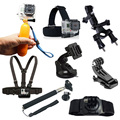 Gopro Accessories 9 in 1 Kit Chest+Head Strap+Floating Grip +Handlebar Seatpost+Monopod+Suction Cup For GoPro hero4 session 4 3+