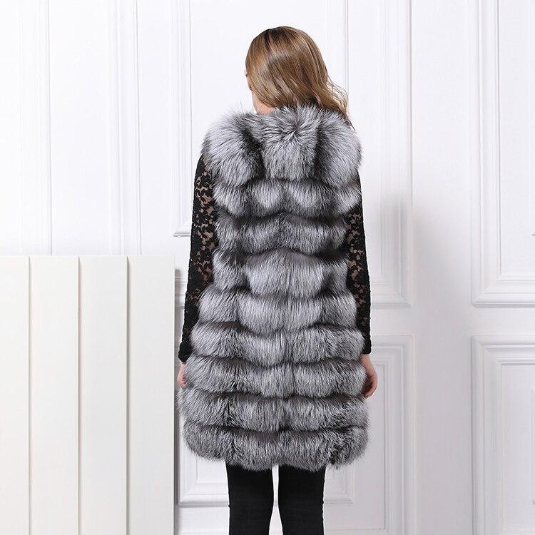 Giallo colore Integrale Cappotto 2018 Nuovo Pelliccia Giacca Di Nero  Femminile Il Volpe Rossa Vera Gilet La Pelle ... 8196d72c395