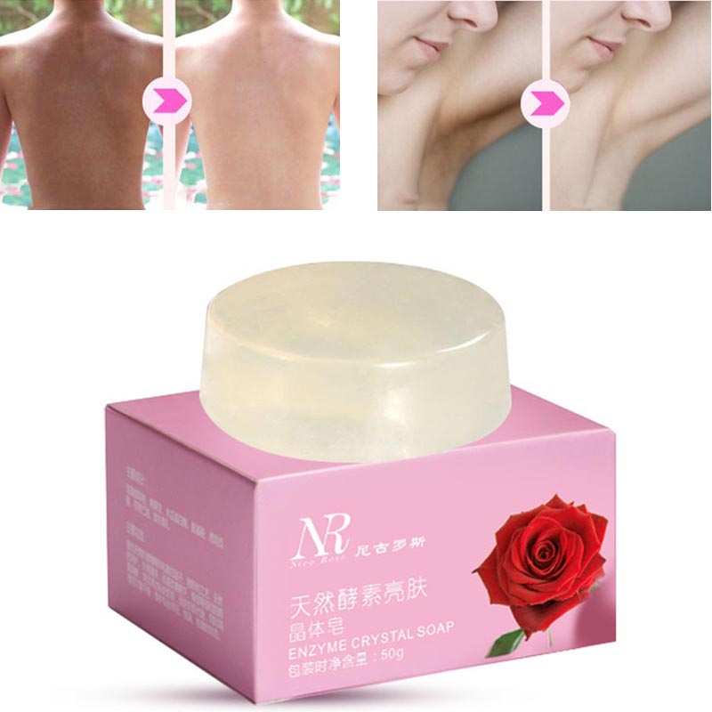 Natural Skin Lightener Crystal Soap  Skin Care Nipples Intimate Private Whitening Pink Lips Nipples Body Whitening Bath Soap