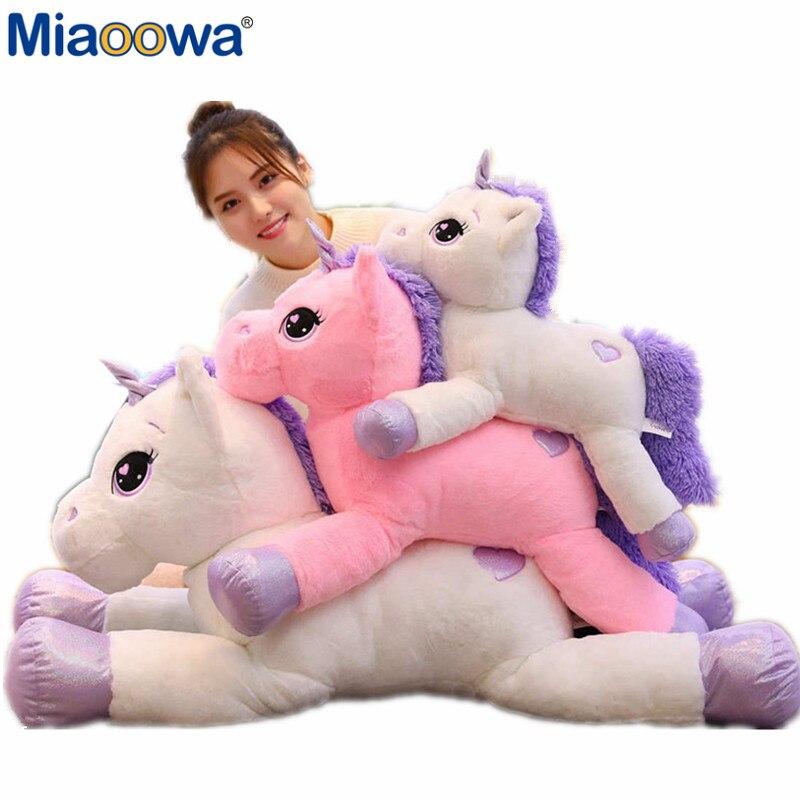 60-110cm Giant Size Unicorn Plush Toy Soft Stuffed Cartoon Unicorn Dolls Animal Horse High Quality Gift For Drop Shiping
