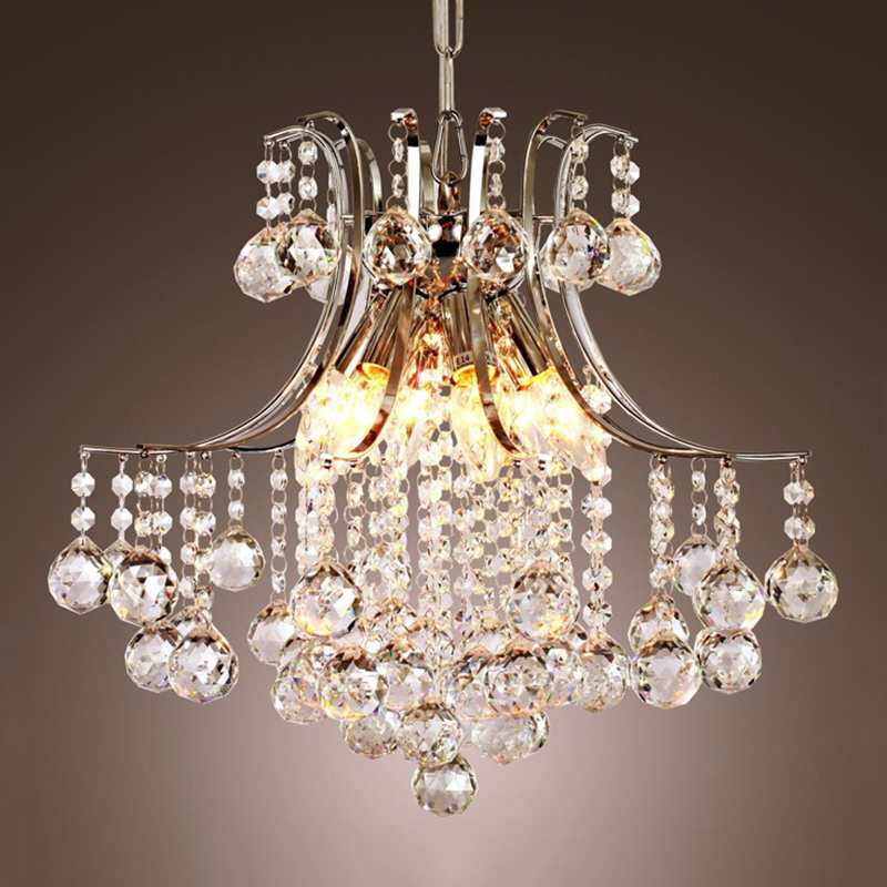 Modern Iron crystal Chandeliers E14 LED 220V Luxury Lustre Chandelier Lighting for living room kitchen restaurant study cafe bar modern crystal led chandelier gold luxury lustre e14 8 bulbs included crystal ball fixture for restaurant living room lamp