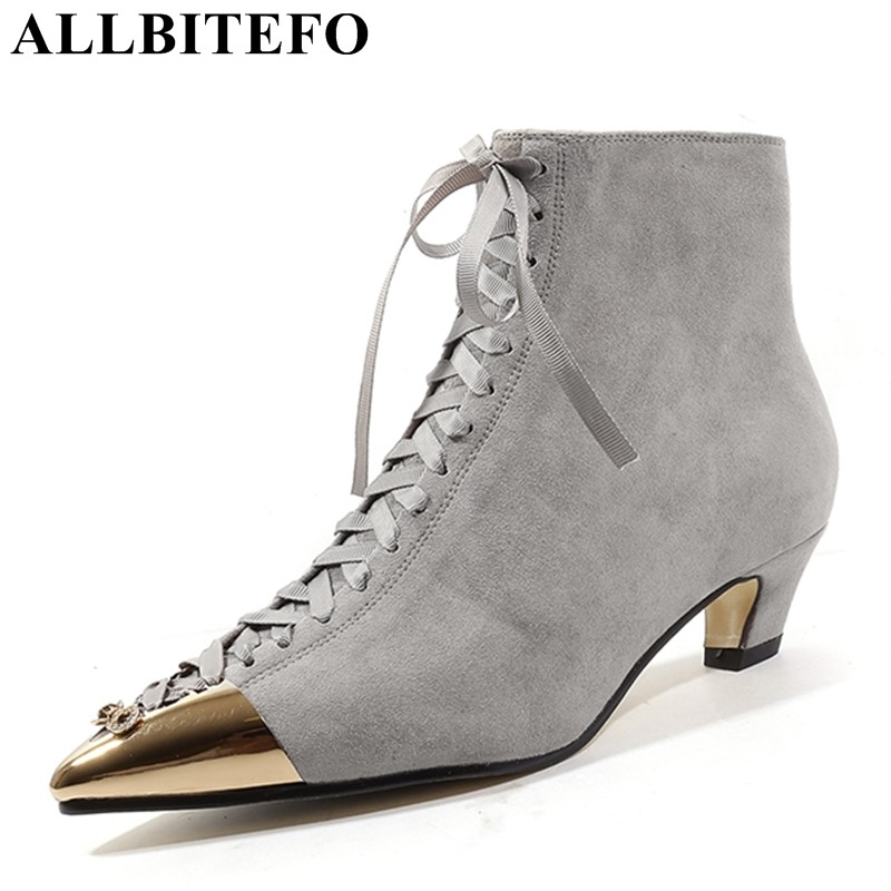 ALLBITEFO natural genuine leather sheepskin women boots rhinestone design fashion sexy girls ankle boots motorcycle boots shoes allbitefo natural genuine leather snake texture cow leather women ankle boots fashion sexy motorcycle boots girls winter shoes