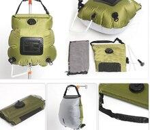 2019 bolsas de agua para Camping al aire libre senderismo bolsa de ducha Solar 20L calefacción Camping bolsa de ducha manguera conmutable cabeza de ducha caliente venta