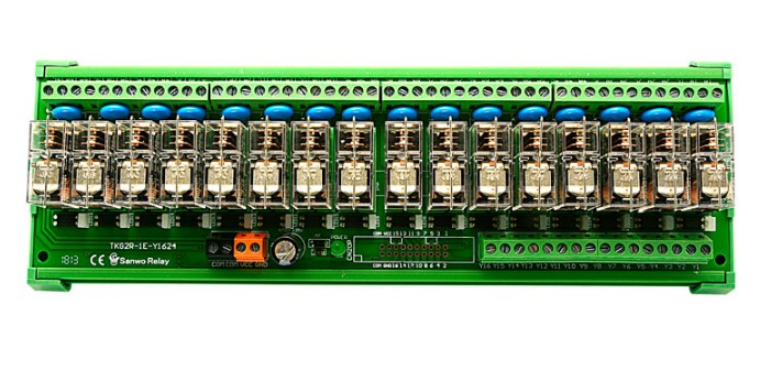 1PCS DC12V 16 channel PLC amplifier board OMRON Relay module TNKGZR 1E K1624 Compatible with NPN and PNP