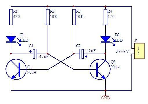 DIY Electronic Kit 5mm LED Einfache Flash Blue Light Einfache ...