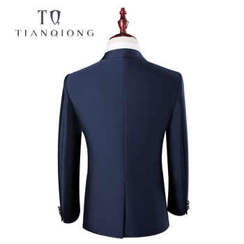 TIAN QIONG Cheap Latest Coat Pant Designs High Quality Polyester and Viscose Business Casual Men\'s Blue,brown Suits,Jacket+Pants