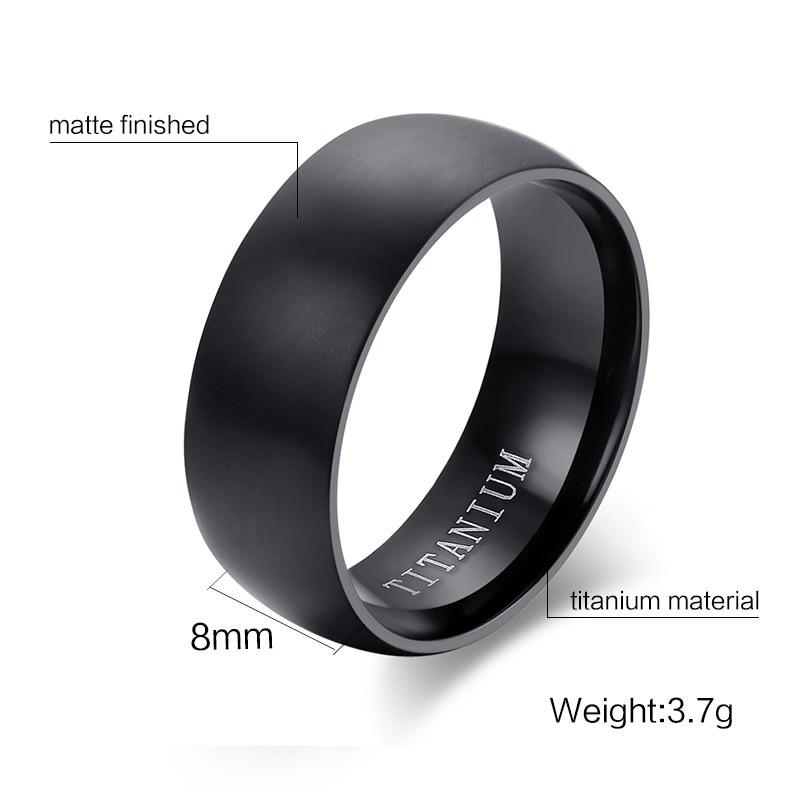 Men's Black Titanium Ring 1