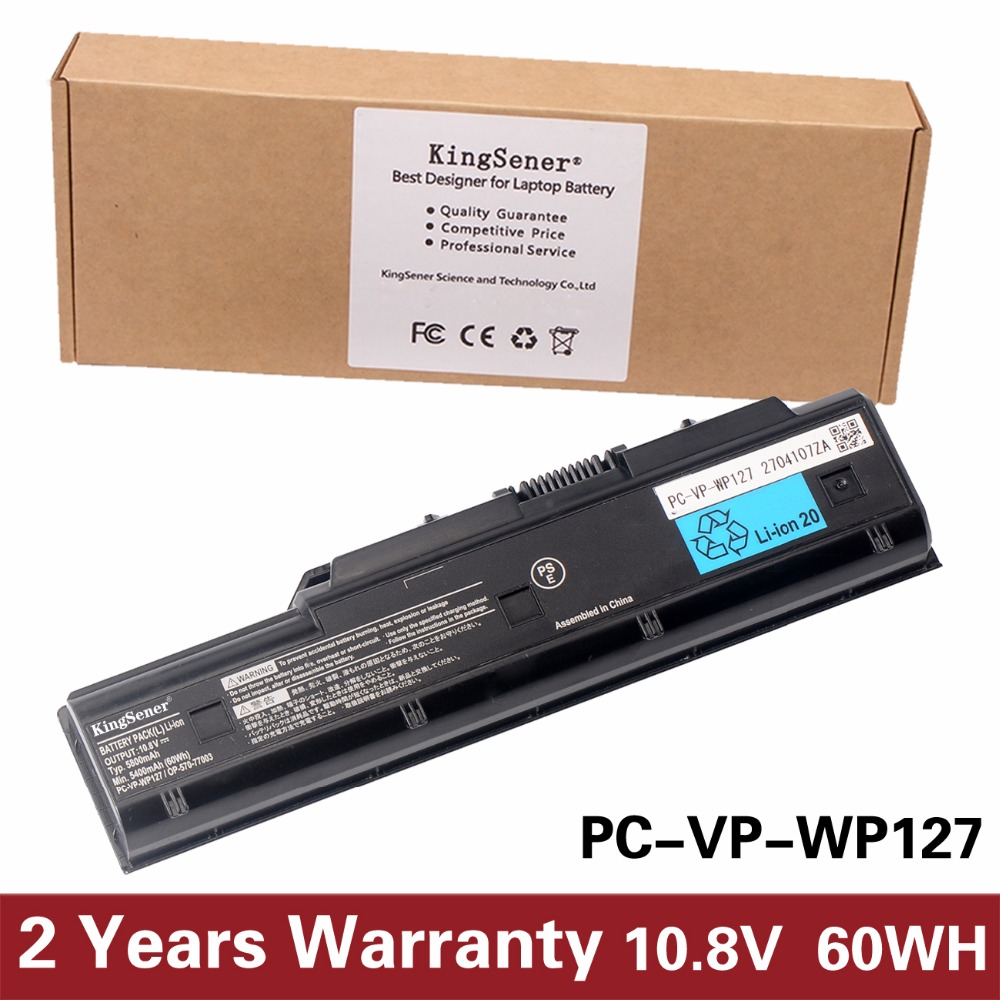KingSener New PC-VP-WP127 Laptop Battery for NEC PC-VP-WP104 PC-VP-WP103 PC-VP-WP114 PC-VP-WP121 10.8V 5800mAh 1 pc 100