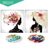 Meian 3D DIY Diamond Embroidery 5D Diamond Painting Diamond Mosaic Woman Needlework Crafts Christmas Decor