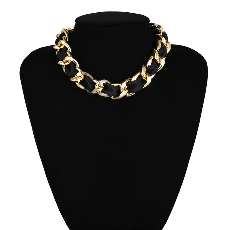 2020 New Fashion Choker Necklaces Summer Women Vintage Black Golden Necklaces Gothic Punk Collar Choker Jewelry For Women Girls