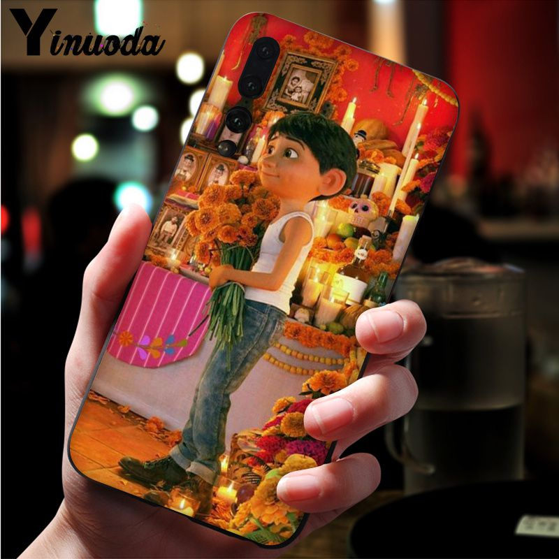 Image 4 - Yinuoda Dreaming around the world Coco Black TPU Soft Silicone Phone Cover for Huawei Mate10 Lite P20 Pro P10 Plus Honor 9 10-in Half-wrapped Cases from Cellphones & Telecommunications
