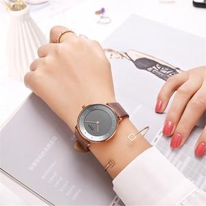Image 3 - Beautiful Womens Quartz Watches Slim Fashion Leather Ladies Wrist Watch Reloj Mujer CURREN Hot Female Clock Gifts For Women