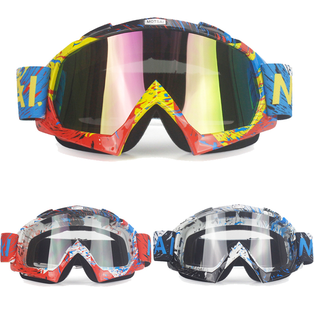 38a9fae829 BOTSAI New High Quality Transparent Sport Racing Off Road Oculos Lunette Motocross  Goggles Glasses For Motorcycle Dirt Bike