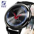 Xingyunshi Marca Luminous relógios De Couro Relógios Homens relógios de Pulso Digitais Orologio uomo marca famosa 2016 Frete Grátis